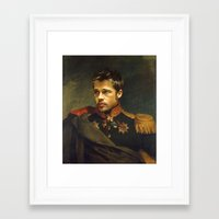brad pitt Framed Art Prints featuring Brad Pitt - replaceface by replaceface