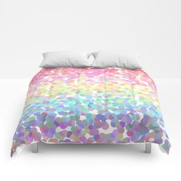 Abstract rainbow texture Comforters