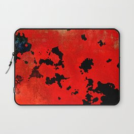 Red Modern Contemporary Abstract Textured Design Laptop Sleeve