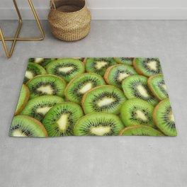 Kiwi green fruit pattern Rug