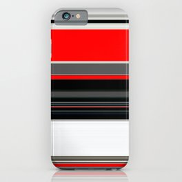red white black grey striped pattern iPhone Case