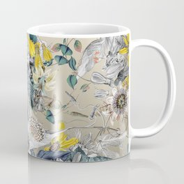 Exotic Fragrant Floral Garden in Gold Coffee Mug