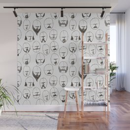 Moustaches and Beards Wall Mural