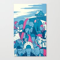 eternal sunshine of the spotless mind Canvas Prints featuring Eternal Sunshine of the Spotless Mind by Ale Giorgini