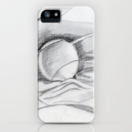 tennis -ball in the material iPhone Case