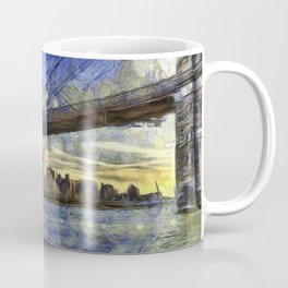 Brooklyn Bridge New York Art Coffee Mug
