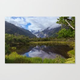 View on Fox Glacier. West Coast, New Zealand Canvas Print