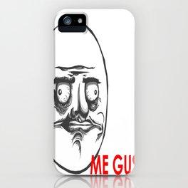 me gusta meme face iPhone Case