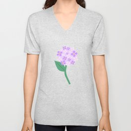Purple Pink Hydrangeas Unisex V-Neck