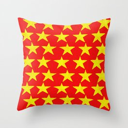 Gold Stars Rising Throw Pillow