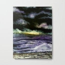 Lavender Waves Metal Print