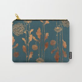 Art Deco Copper Flowers  Carry-All Pouch