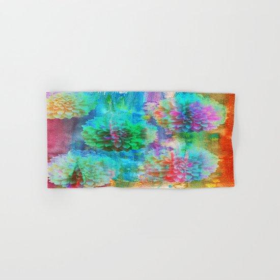 Colorful Dahlias Q Hand & Bath Towel