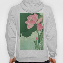 Flowering Lotus Flowers Ohara Koson Hoodie