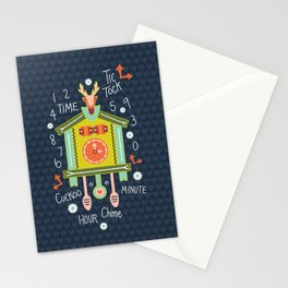 Tic Tock Cuckoo Clock Stationery Cards