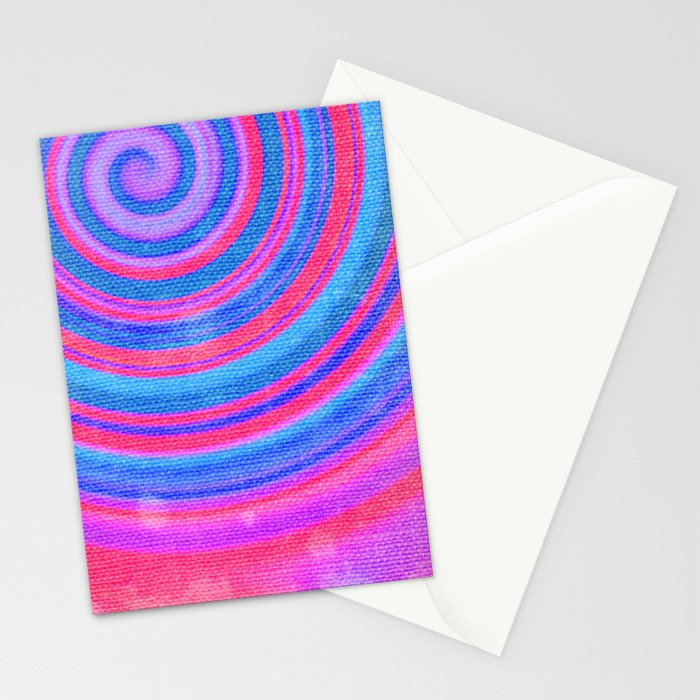 Evening Spiral Stationery Cards