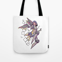 Cyber Mecha Tote Bag