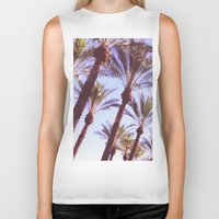 palms Biker Tanks featuring Palms by Lily Rose