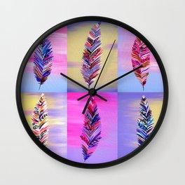 Feathers III Wall Clock