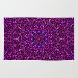 Pretty Purple Mandala Garden Rug