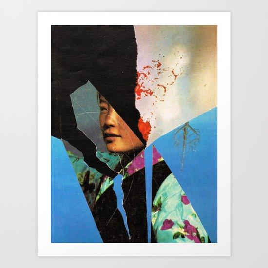 the schiphol girl... Art Print