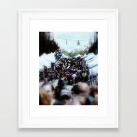 it crowd Framed Art Prints featuring crowd by christian p rockinger