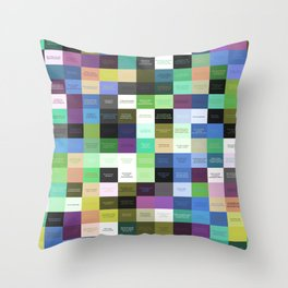 Colored life quotes Throw Pillow
