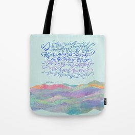 He Has Made Everything Beautiful-Ecclesiastes 3:11 Tote Bag