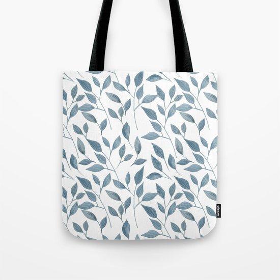 Watercolor leaves pattern Tote Bag