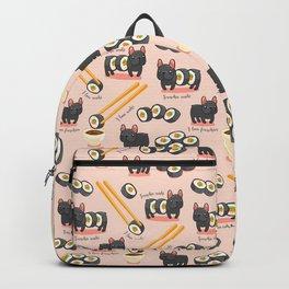 French bulldog maki sushi Backpack