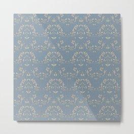 Repeating pattern in muted tones part III Metal Print