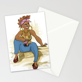 Gorgeous African girl Stationery Cards