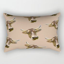 brown western country cowboy rodeo bull Rectangular Pillow