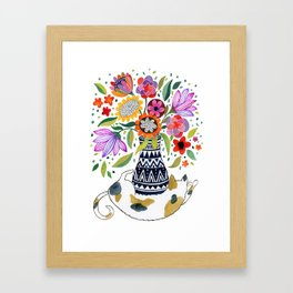 Calico Bouquet Framed Art Print