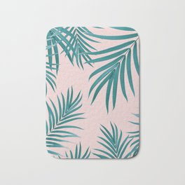 Palm Leaves Pattern Summer Vibes #1 #tropical #decor #art #society6 Bath Mat