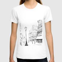 Sketch of a Street in Paris T-shirt
