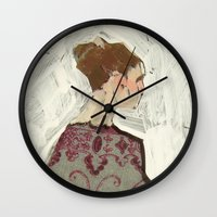 study Wall Clocks featuring Study by Suzanna Schlemm