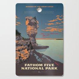 Fathom Five National Park Poster (Flowerpot Island) Cutting Board