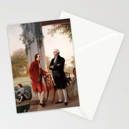 Washington and Lafayette at Mount Vernon - Thomas Pritchard Rossiter Stationery Cards