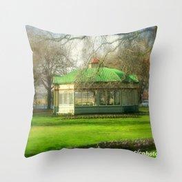 The Statuary Pavilion Throw Pillow