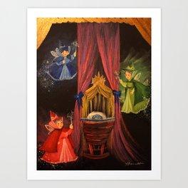 Three Good Fairies Art Print