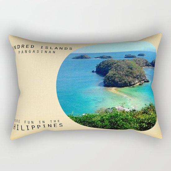 Hundred Island Rectangular Pillow