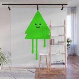 Happy Xmas Tree Wall Mural