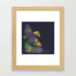 Dark Golden Waters Framed Art Print