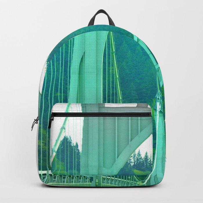 St. Johns Bridge Portland Oregon Backpack