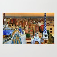 barcelona Area & Throw Rugs featuring Barcelona by Darla Designs