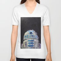 r2d2 V-neck T-shirts featuring r2d2 by Thad Taylor Art