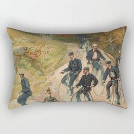 Vintage Bicycle Race 1800s Bike Riders Rectangular Pillow