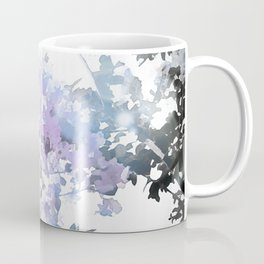 Watercolor Floral Lavender Teal Gray Coffee Mug