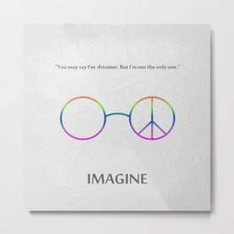 Imagine Metal Print